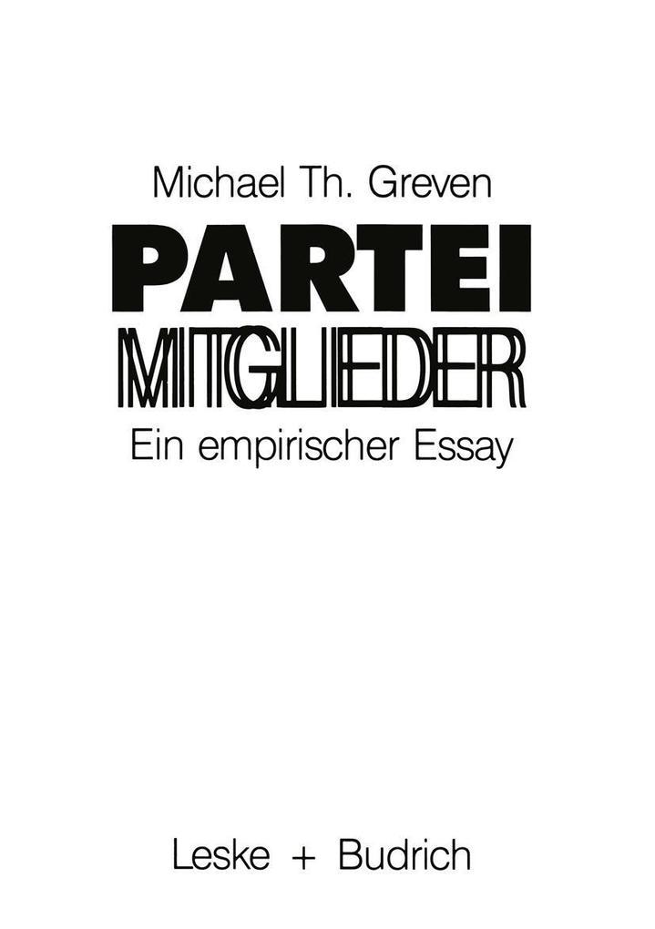 Parteimitglieder als eBook Download von Michael...
