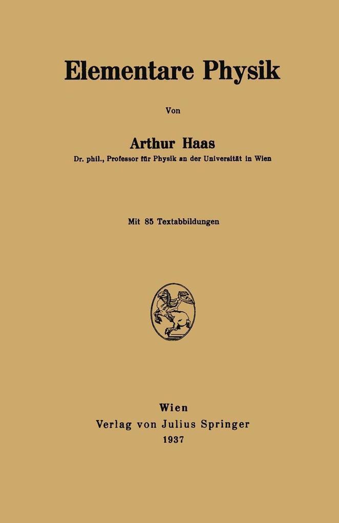 Elementare Physik als eBook Download von Arthur...