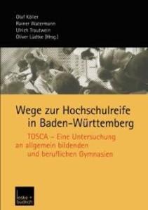 Wege zur Hochschulreife in Baden-Wurttemberg al...