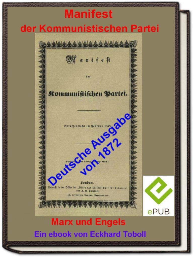 """""""Manifest der Kommunistischen Partei"""" (deutsche Ausgabe 1872) als eBook epub"""