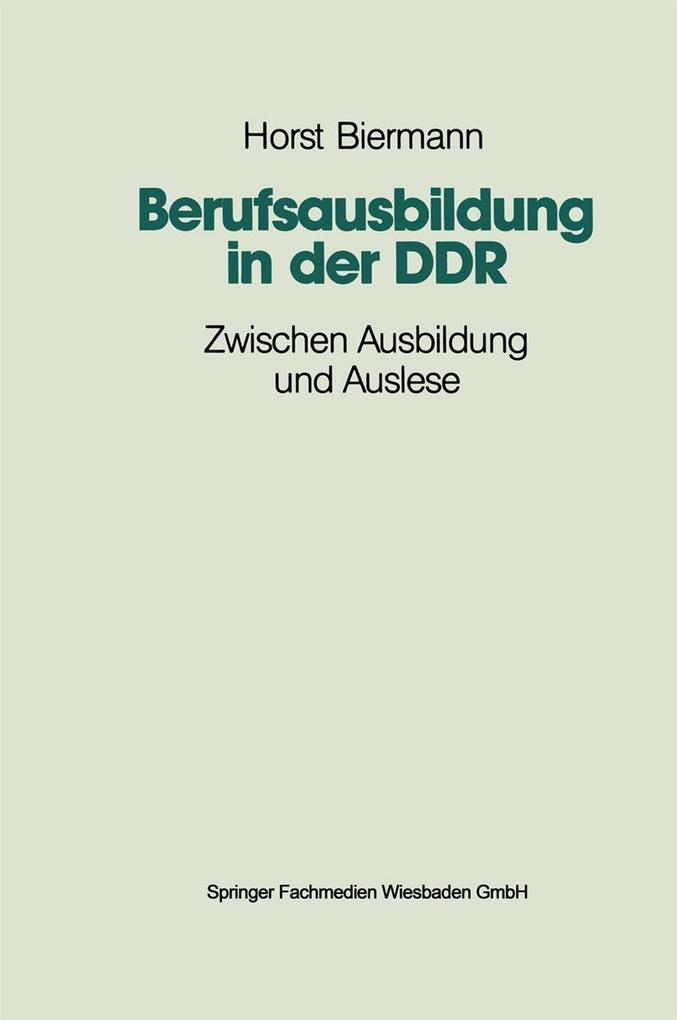 Berufsausbildung in der DDR als eBook Download ...