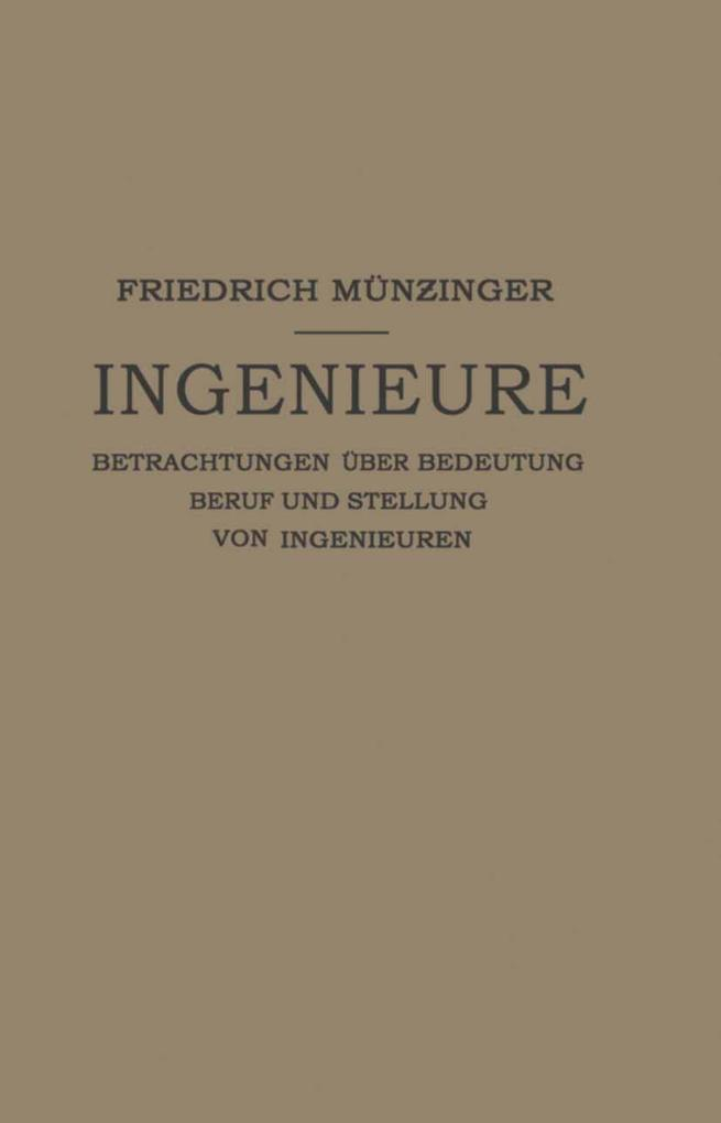 Ingenieure als eBook Download von Friedirch Mun...