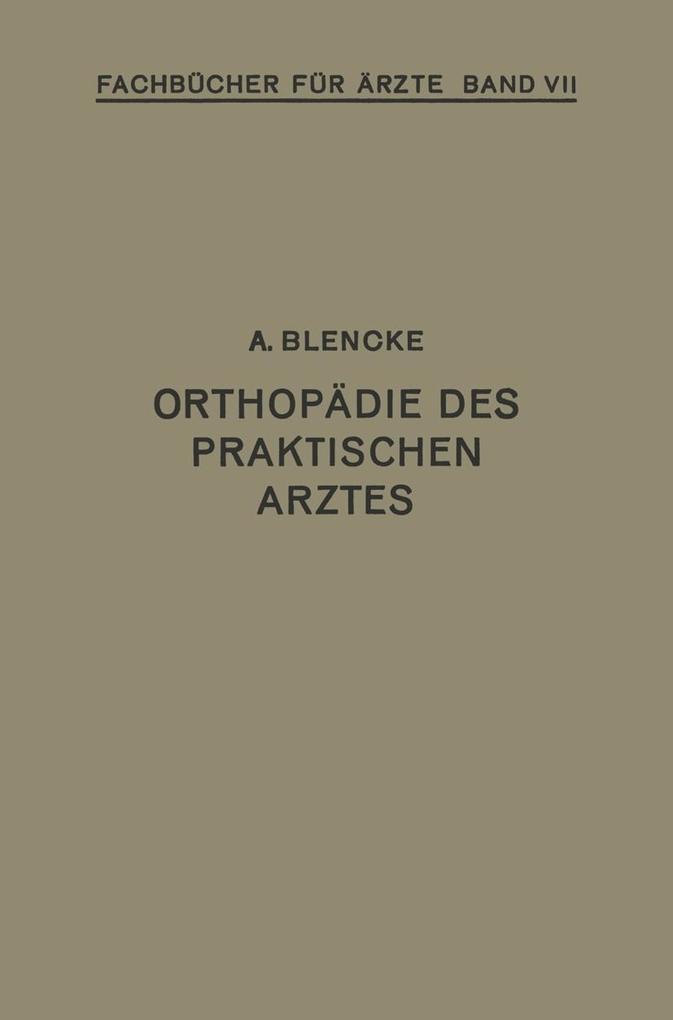 Orthopadie des Praktischen Arztes als eBook Dow...