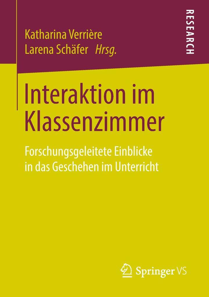 Interaktion im Klassenzimmer als Buch von