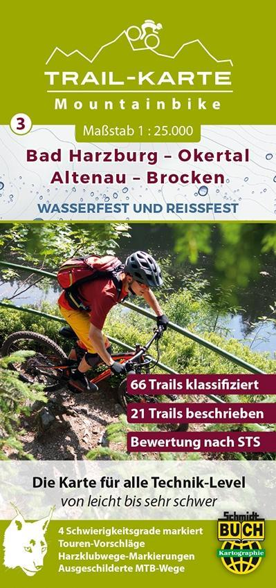 MTB Trail-Karte Harz: Bad Harzburg - Okertal - ...