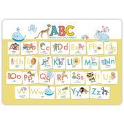 Hochwertiges ABC-Mini-Lernposter der Tiere (32,4 x 45,8 cm): Stabiler Karton, folienbeschichtet, abwischbar.