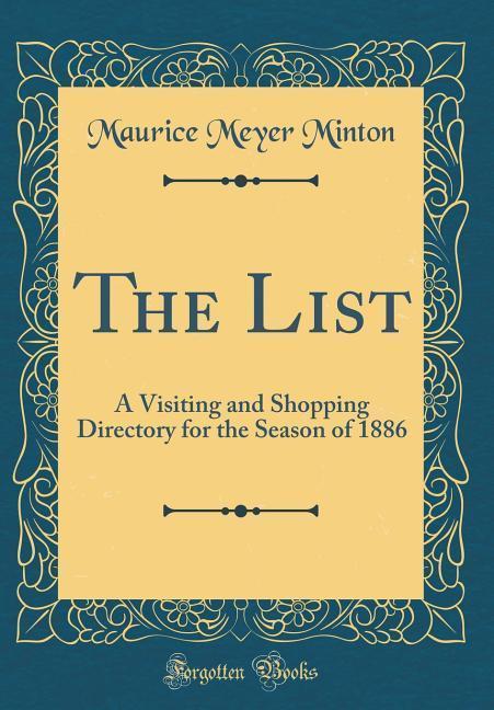 The List als Buch von Maurice Meyer Minton