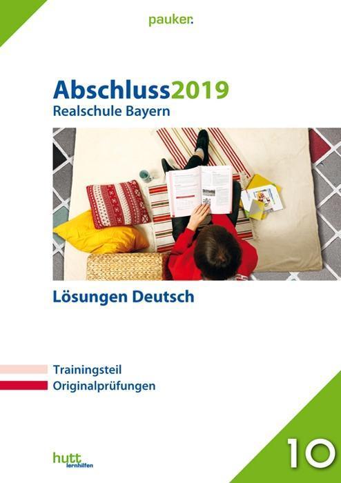 Abschluss 2019 - Realschule Deutsch Lösungen. B...