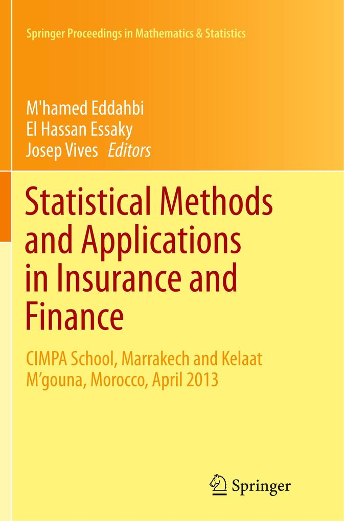 Statistical Methods and Applications in Insuran...
