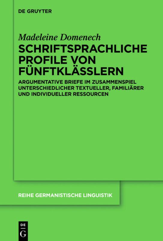 Schriftsprachliche Profile von Fünftklässlern als Buch