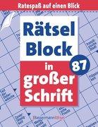 Rätselblock in großer Schrift. Bd.87