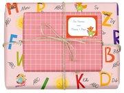 Geschenkpapier-Set für Kinder, Einschulung (für Mädchen)