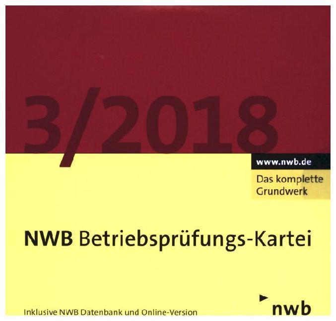 NWB Betriebsprüfungs-Kartei DVD, 1 DVD-ROM