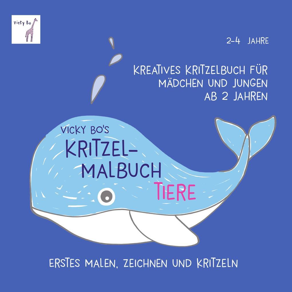 Vicky Bo's Kritzel-Malbuch - Tiere als Buch