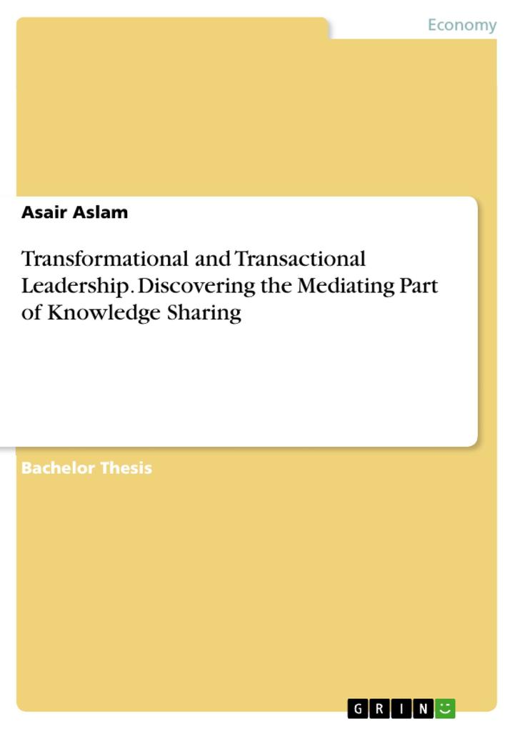 Transformational and Transactional Leadership. ...