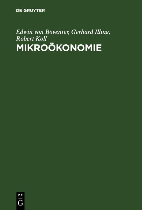 Mikroökonomie als eBook Download von Edwin von ...
