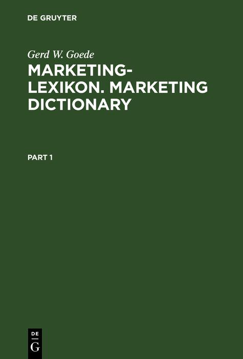 Marketing-Lexikon. Marketing Dictionary als eBook