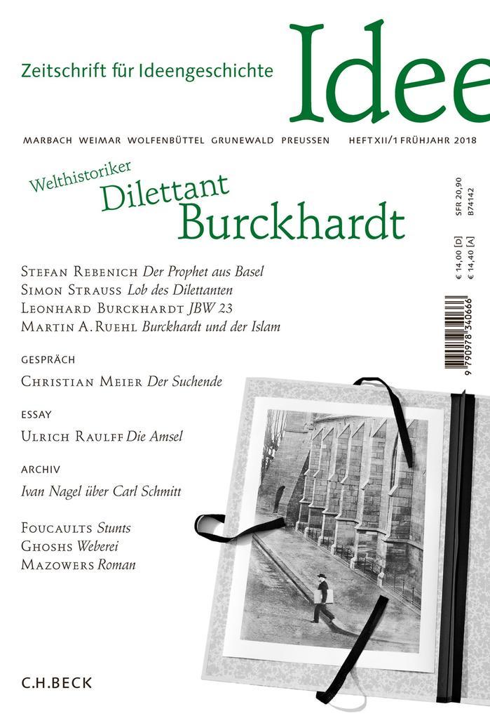Zeitschrift für Ideengeschichte Heft XII/1 Frühjahr 2018 als eBook