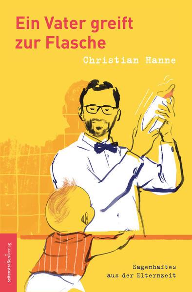 Ein Vater greift zur Flasche als Buch