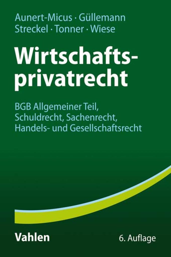 Wirtschaftsprivatrecht als eBook Download von S...