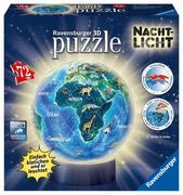 Erde im Nachtdesign, Nachtlicht 3D Puzzle-Ball 72 T.