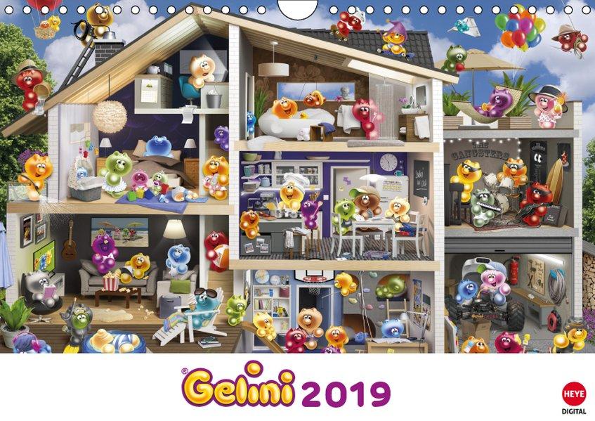 Gelini Posterkalender (Wandkalender 2019 DIN A4 quer) als Kalender