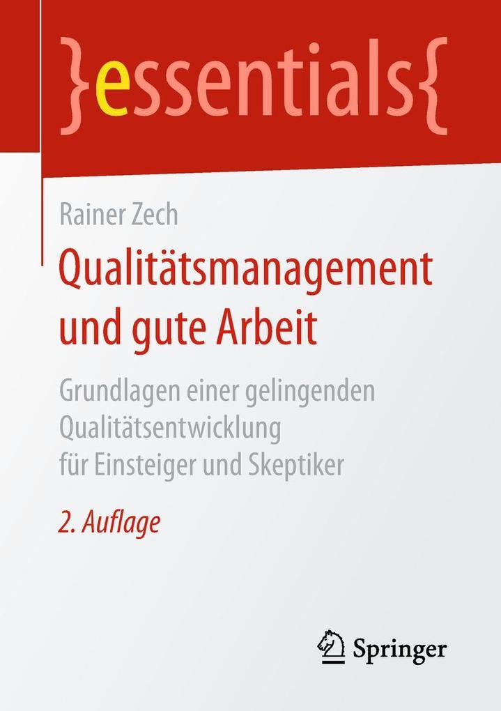 Qualitätsmanagement und gute Arbeit als eBook D...