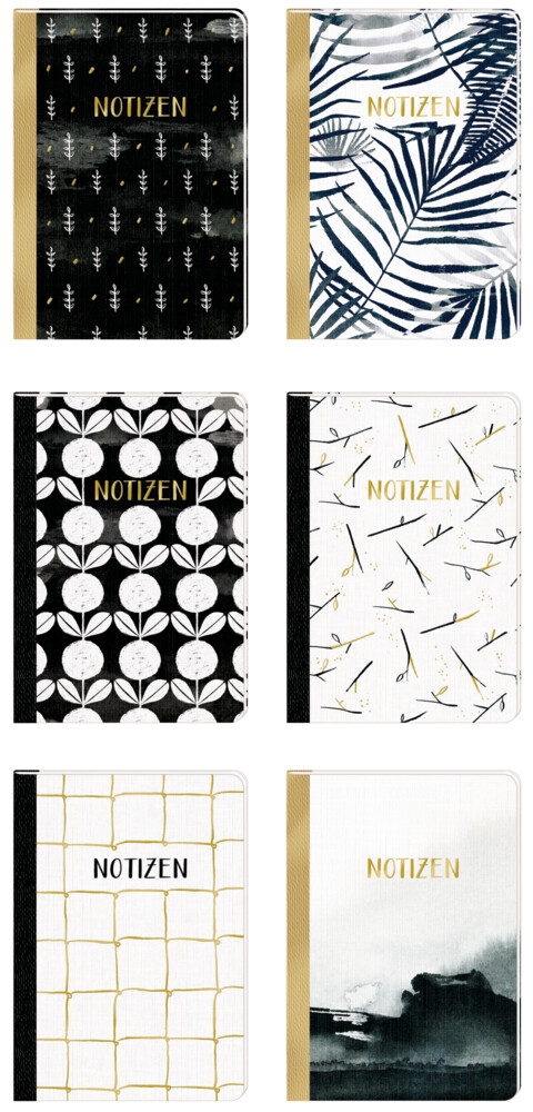 Notizhefte - All about black & white - DIN A5. 1 Exemplar, Motiv nicht frei wählbar als Sonstiger Artikel