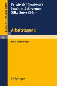 Arbeitstagung Bonn 1984 als eBook Download von