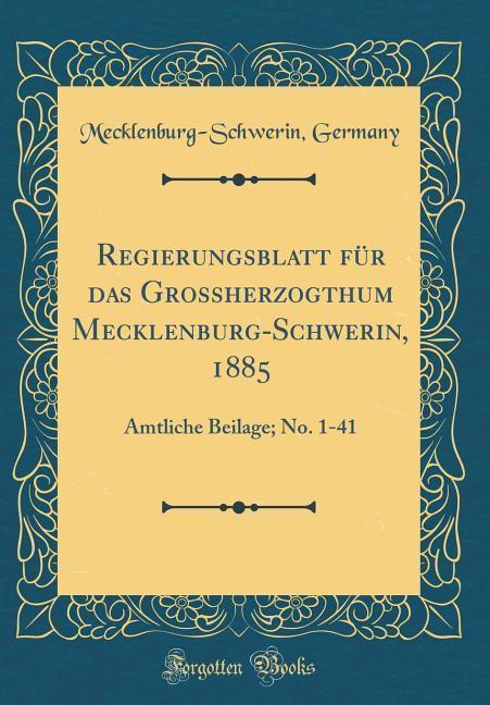 Regierungsblatt für das Grossherzogthum Mecklen...