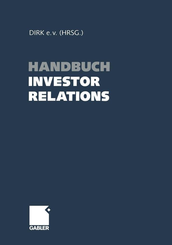 Handbuch Investor Relations als eBook Download von