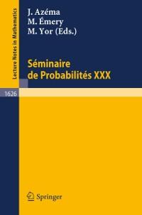 Seminaire de Probabilites XXX als eBook Downloa...