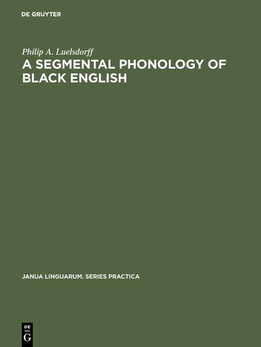 segmental phonology of black English als eBook ...