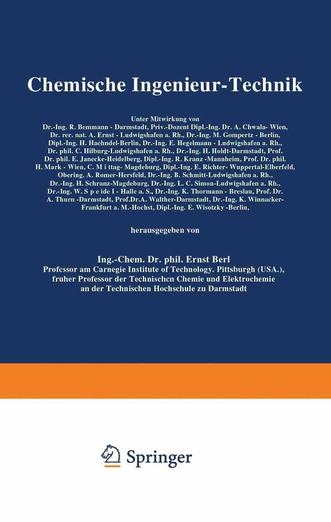 Chemische Ingenieur-Technik als eBook Download ...