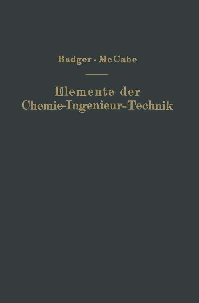 Elemente der Chemie-Ingenieur-Technik als eBook...