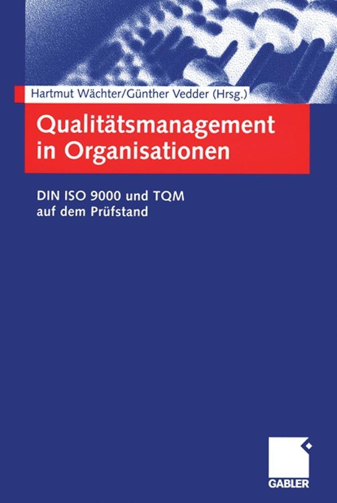 Qualitatsmanagement in Organisationen als eBook...