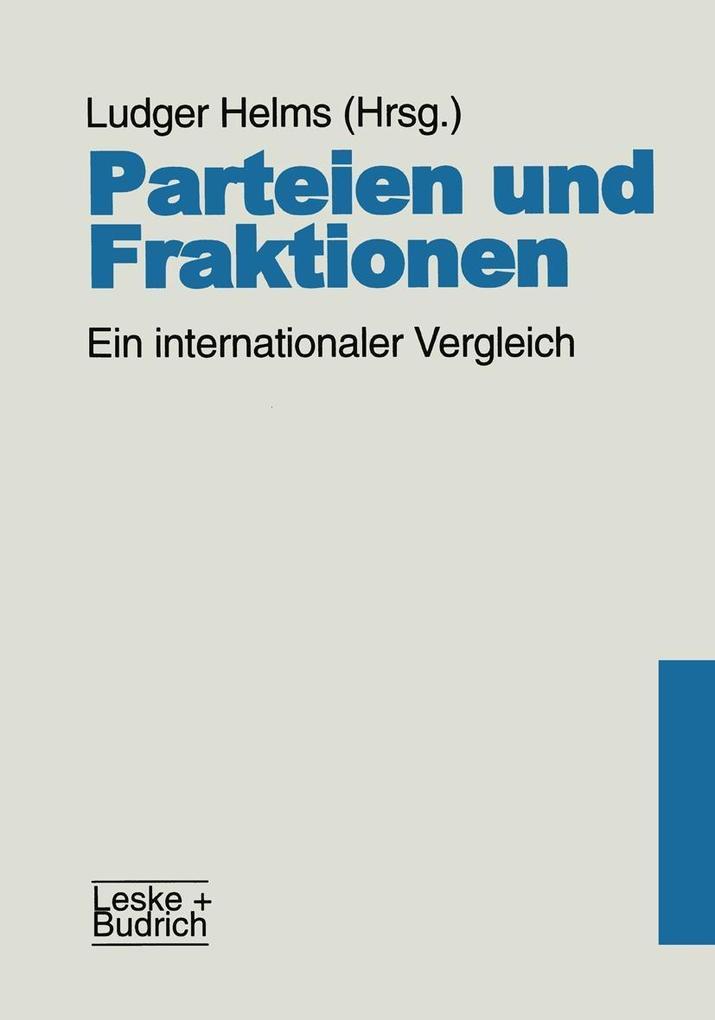 Parteien und Fraktionen als eBook Download von