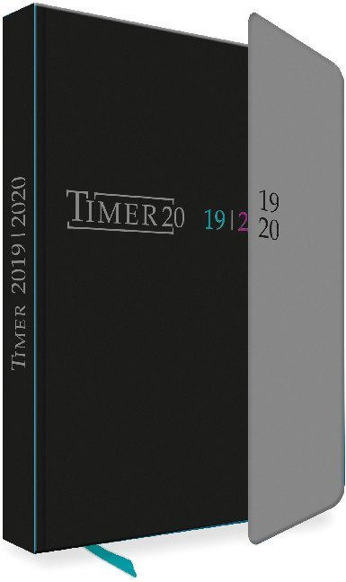 "Schülerkalender ""Black"" mit Klappe 2019/20 als Kalender"