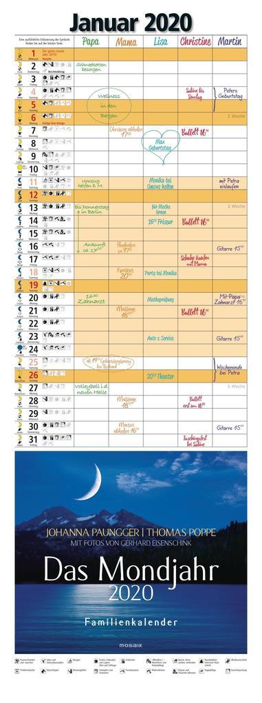 Das Mondjahr 2020 Familienkalender als Kalender
