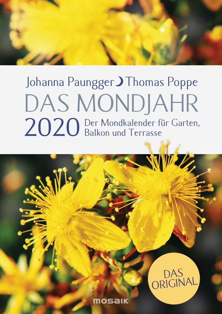 Das Mondjahr 2020 als Kalender