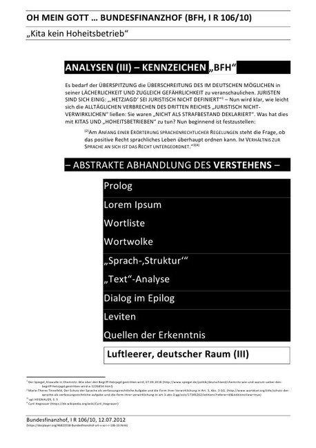 """OH MEIN GOTT ... BUNDESFINANZHOF (BFH, I R 106/10) - ANALYSEN (III) - KENNZEICHEN """"BFH"""" als Buch"""