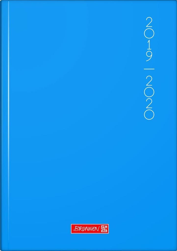 BRUNNEN Schülerkalender 2019/20, Plain Blue als Kalender