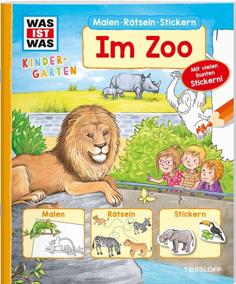 Was Ist Was Kindergarten Malen Rätseln Stickern Im Zoo Buch