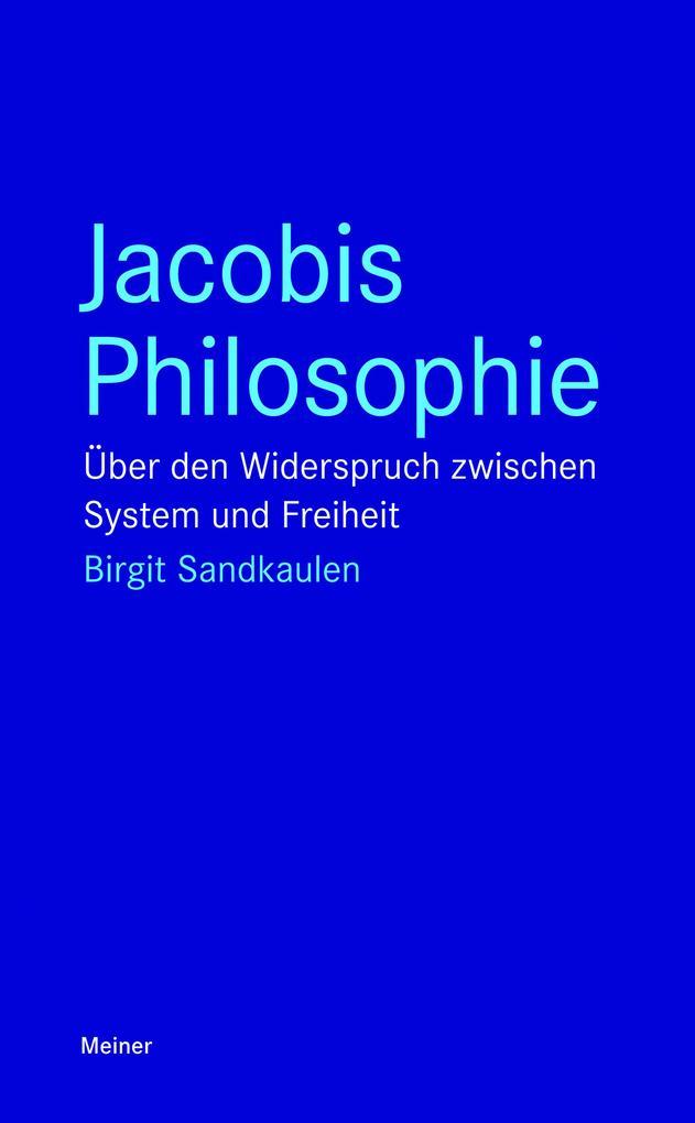 Jacobis Philosophie als Buch