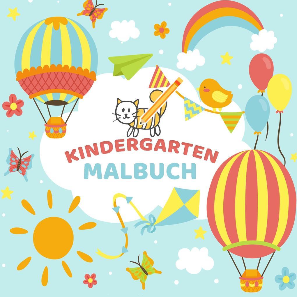 Image of Mein Kindergarten Malbuch - Ausmalbuch für die ganz kleinen - Kinder Malbuch für Kleinkinder mit einfachen Malvorlagen