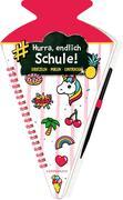 [Schultüten-Kratzelbuch - Funny Patches - Hurra, endlich Schule! (pink)]