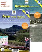 Wassersport-Wanderkarte Österreich