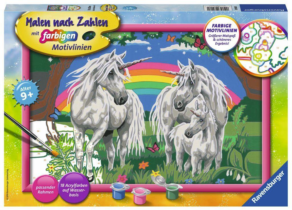 Ravensburger Spiel Malen Nach Zahlen Fabelhafte Einhornwelt
