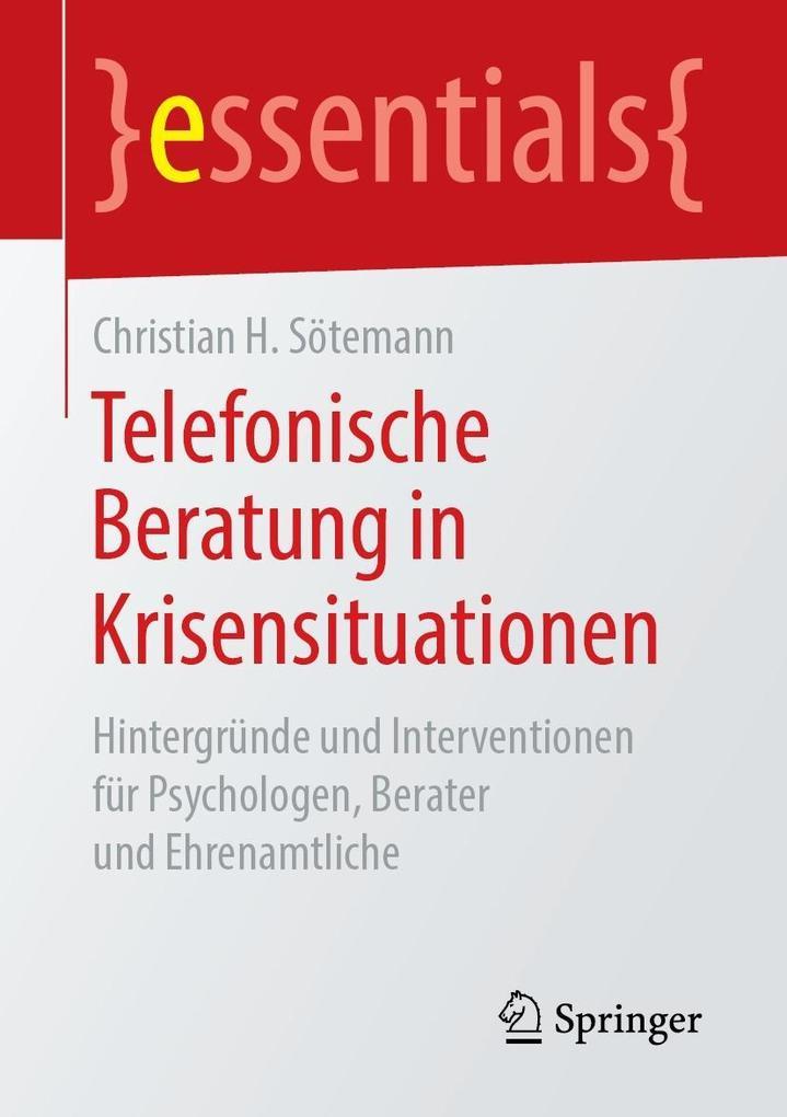 Telefonische Beratung in Krisensituationen als eBook pdf