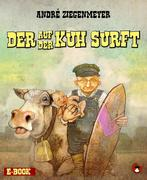 Der auf der Kuh surft